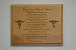 Prayer For A Special Nurse Plaque 8 Inch By 10 Inch
