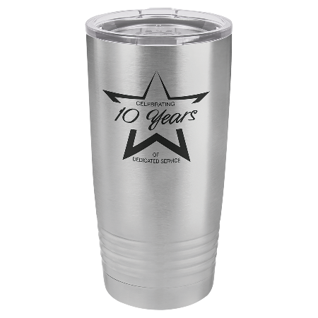 100 Customized Polar Camel 20 oz. Stainless Steel Ringneck Vacuum Insulated Tumbler w/Clear Lid.