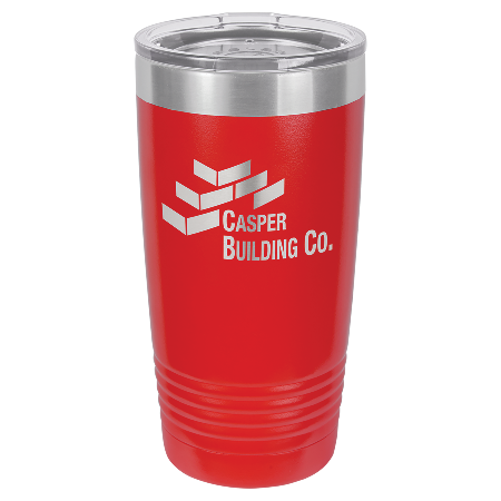 100 Customized Polar Camel 20 oz. Red Ringneck Vacuum Insulated Tumbler w/Clear Lid.