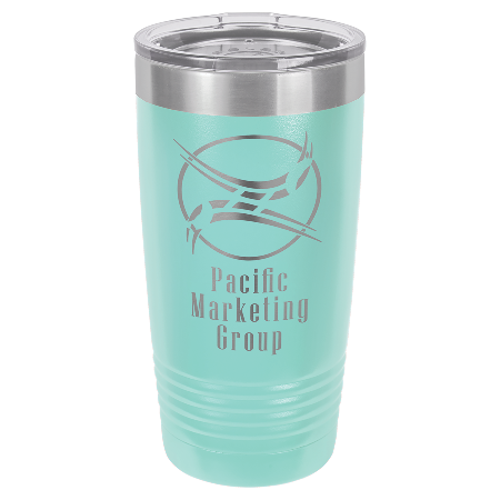 100 Customized Polar Camel 20 oz. Teal Ringneck Vacuum Insulated Tumbler w/Clear Lid.