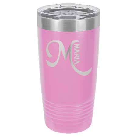 100 Customized Polar Camel 20 oz. Light Purple Ringneck Vacuum Insulated Tumbler w/Clear Lid.