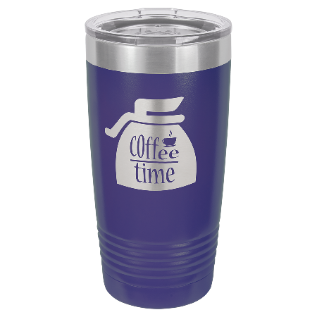 100 Customized Polar Camel 20 oz. Purple Ringneck Vacuum Insulated Tumbler w/Clear Lid.