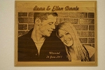 Custom Engraved Wooden Picture 12X15
