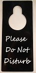 Black Plastic Do Not Disturb Door Hanger with Free Shipping in US