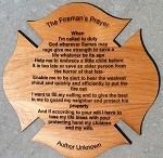 FireFighter Prayer on Maltese Cross 8 inch by 8 inch with Free Shipping.