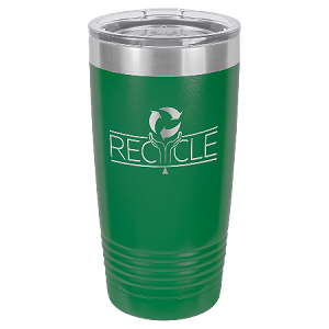 100 Customized Polar Camel 20 oz. Green Ringneck Vacuum Insulated Tumbler w/Clear Lid.