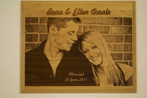 Custom Engraved Wooden Picture 12X15""